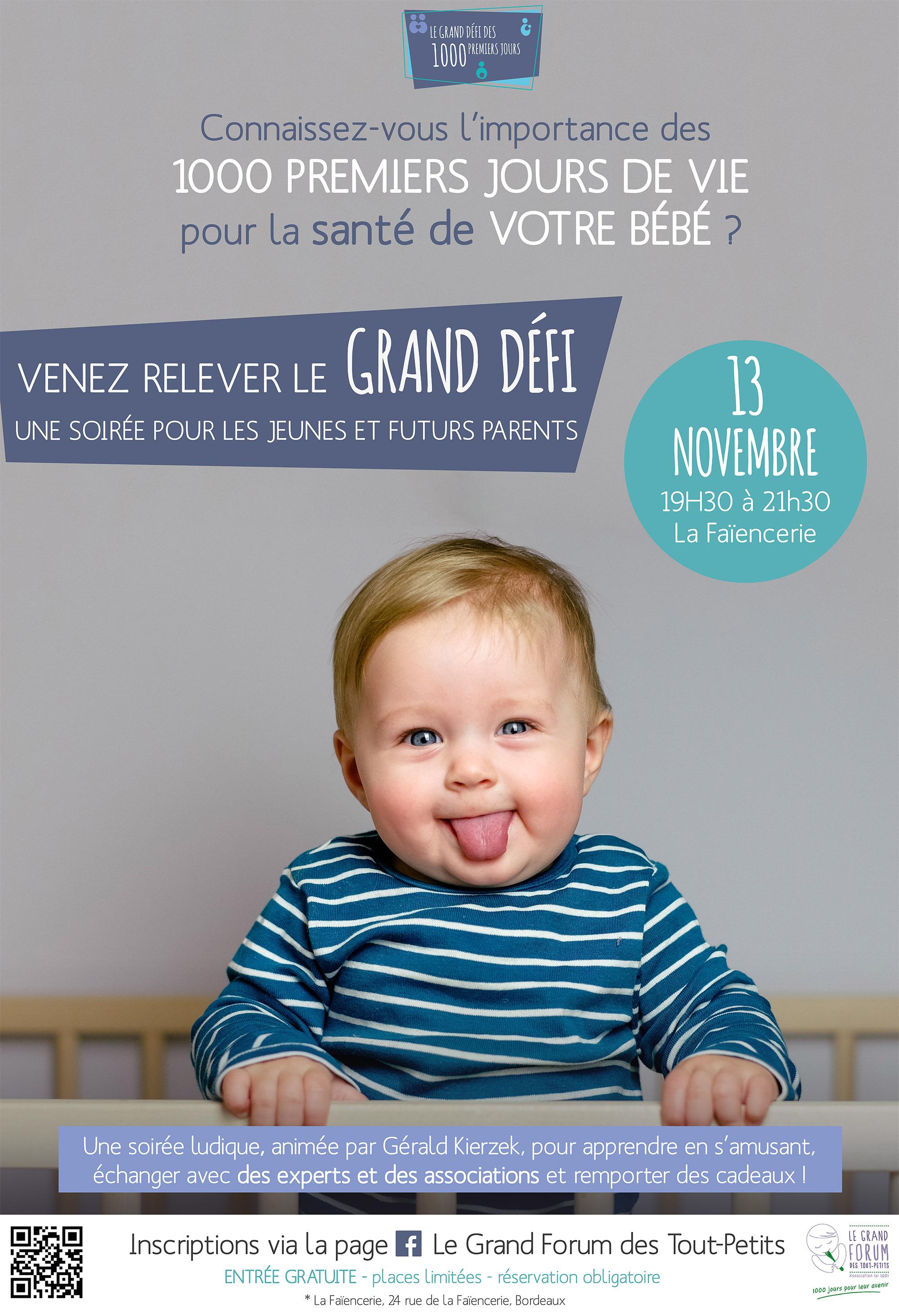 Grand défi des 1000 premiers jours de vie bebe